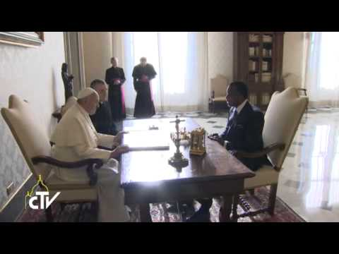 Pope recieves president of the Republic of Congo