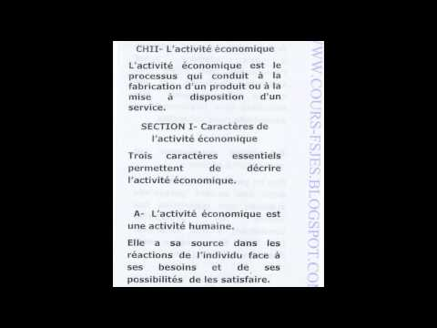 Introduction à  l Economie S1    Cours Complet S1