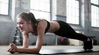 LOL! Watch Gigi Hadid STRUGGLE to Hold a Plank