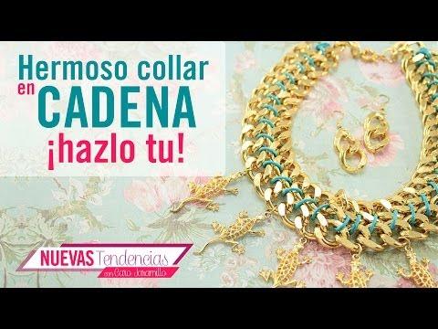 Kit. 23173 Como hacer un lindo collar con cadena dorada con Caro Jaramillo episodio 5