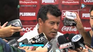 """Almirón: """"Las críticas me fortalecen"""". Independiente. Primera División 2015. FPT."""