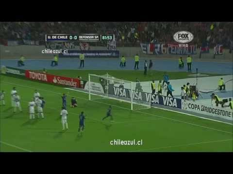 Copa Libertadores 2014 U de Chile 1vs 0 DefensorSporting Radio Sport Chile