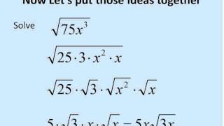 Square Roots with Variables (Simplifying Math) - YouTube