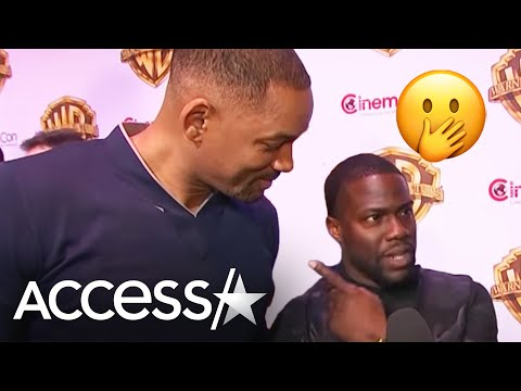 Watch Will Smith Crash Kevin Hart's CinemaCon Interview!