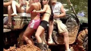 MUD TRUCKS GONE WILD And HOT CHICKS Mud Racing!!