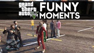 GTA 5 Online Funny Moments Air Strike, Car Wrecks, I Can
