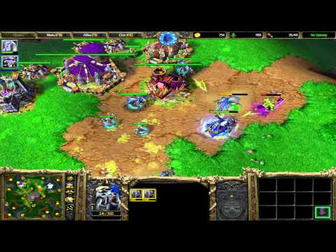 Warcraft 3 TFT Northrend #4 1v1 Spaz vs Brazzz 12.13.13