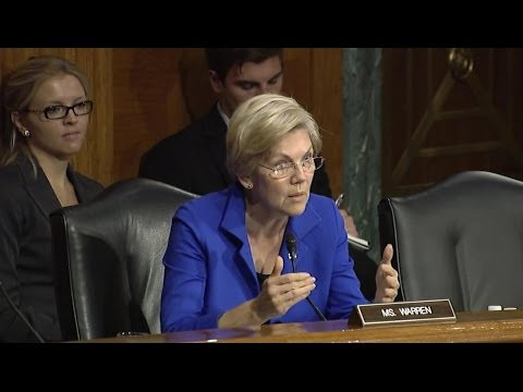 Elizabeth Warren Questions Janet Yellen on Too Big to Fail