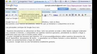 Curso de Google Docs. Parte 5