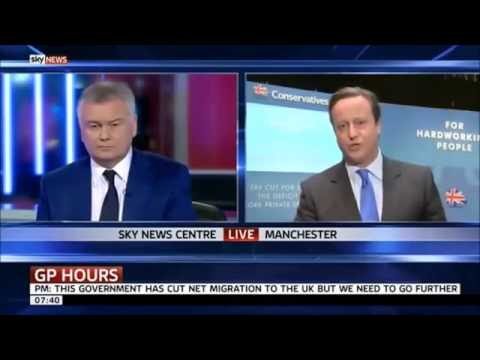 Sky News - David Cameron running scared of television debates with UKIP Nigel Farage - Oct 2013