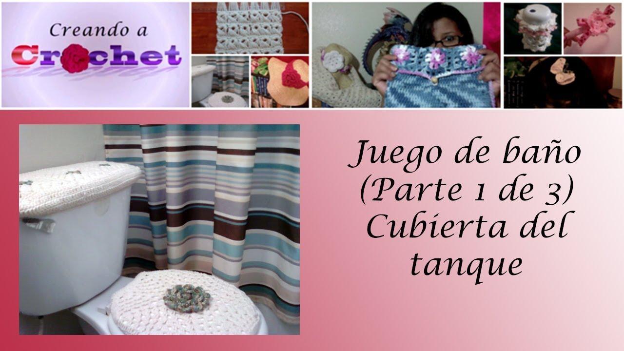 Juegos De Baño A Crochet:Juego de baño (Parte 1 de 3): Cubierta del tanque – Tutorial de