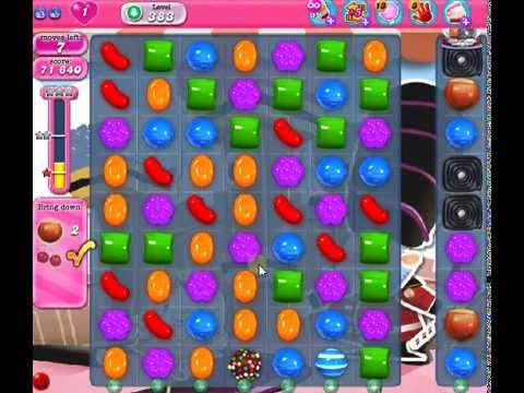 How to beat Candy Crush Saga Level 383 - 1 Stars - No Boosters - 113