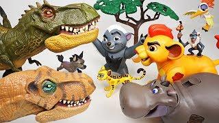 Hyena brought huge dinosaurs! Don't worry! Super Lion Guard transform! - DuDuPopTOY