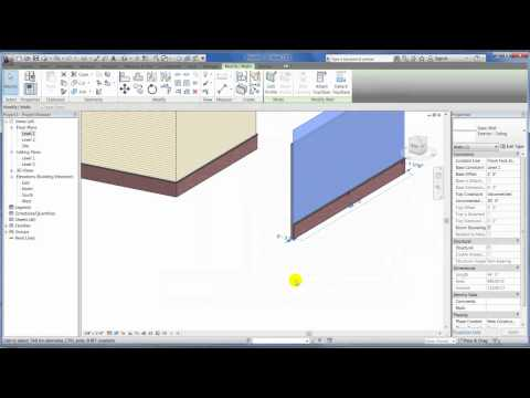 Revit Architecture 2012 - Wall Creation