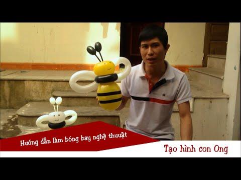 Hướng dẫn làm con ong bằng bóng bay - Bóng bay nghệ thuật