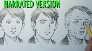 How to Draw a Child, Teen, and Older Person (MALE)