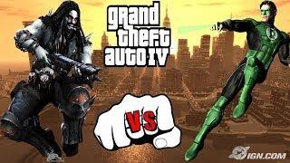 GREEN LANTERN VS LOBO - EPIC BATTLE - GTA IV