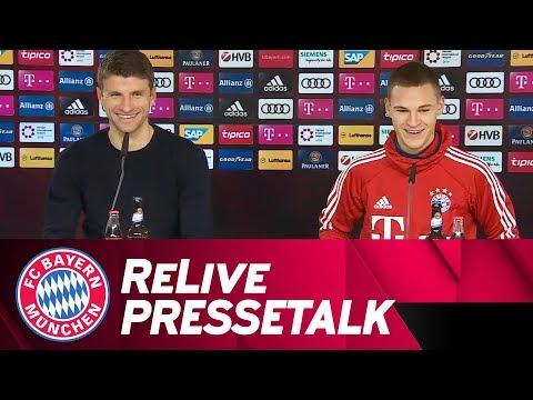 LIVE ???? | FC Bayern-Pressetalk zur UEFA Champions League-Auslosung mit Thomas Müller