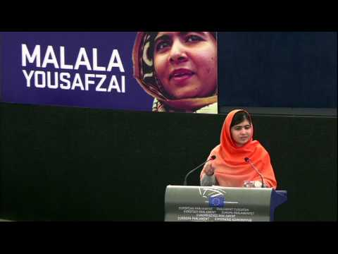 Malala Yousafzai awarded Europe's top human rights honour