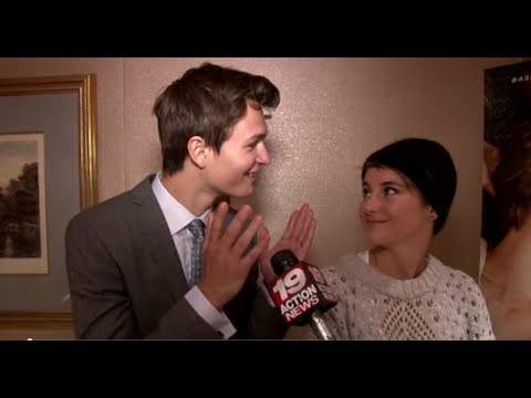 Shailene Woodley and Ansel Elgort THE FAULT IN OUR STARS Interview