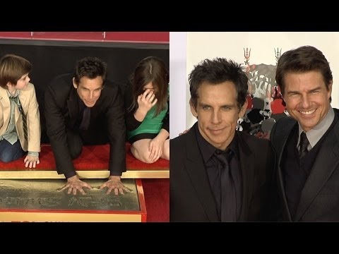 Ben Stiller Handprint Footprint Ceremony with Tom Cruise Speech at TLC Chinese Theater