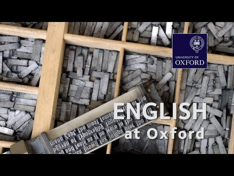 English Language and Literature at Oxford University