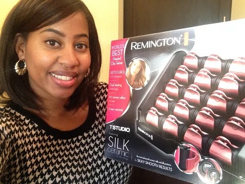 Remington T Studio Silk Ceramic Hot Rollers and OOTD!