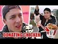DONATING CHICKEN TO KFC THE END IS NEAR