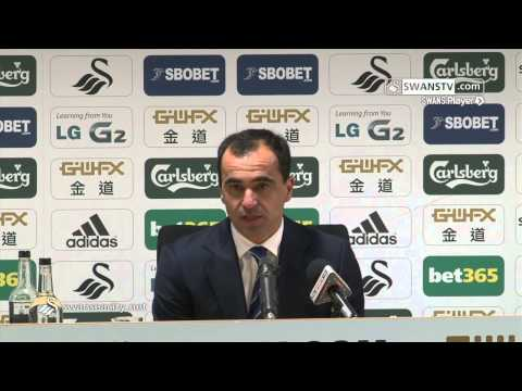 Swansea City Video: Roberto Martinez speaks after 2-1 win at the Liberty.