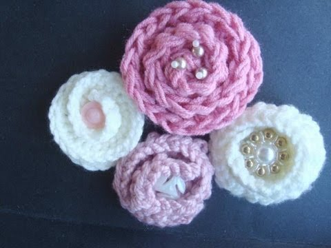 HOW TO CROCHET A COILED FLOWER.,