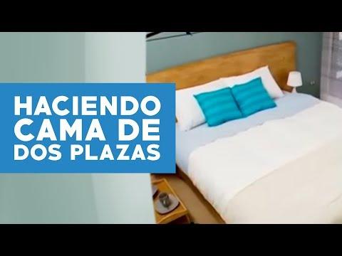 C mo hacer una cama de dos plaza youtube for Camas dos en una