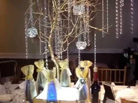 Manzanita Branch Wedding Centerpieces at The Westchester Manor, NY