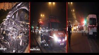 بالفيديو...لحظة احتراق سيارة أحد الصحفيين المغاربة.. | خارج البلاطو