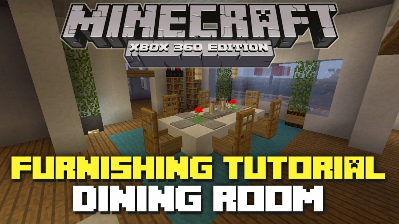 Minecraft xbox 360 furniture tutorial and ideas dining for Minecraft dining room designs