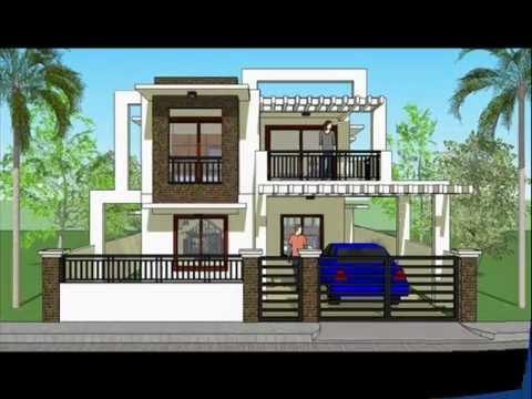 House Plan Designs - Modern 2 Storey House - YouTube