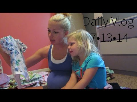 WORKING ON NURSERY FOR BABY SISTER!│7•13•14 DAILY VLOG