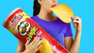 10 DIY Giant Snack vs Miniature Snack / Funny Pranks!