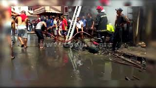 عاجل.. أول فيديو للحريق الذي شب في محل لإصلاح السيارات بالدارالبيضاء و خلف انفجارا قويا |