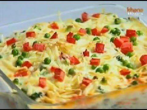 Khana Khazana December 21 '11 - Baked Bread And Vegetable Pudding