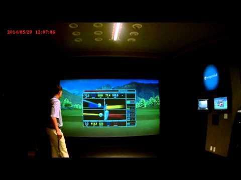 Chad Coleman explaining the Full Swing Golf Simulator Technology 5