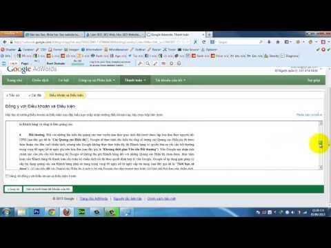 Hướng dẫn thanh toán tài khoản Google Adword