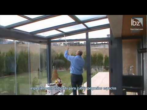 Techo corredizo de cristal youtube for Techos moviles para terrazas precios