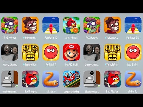 PvZ Heroes,Troll Quest Horror Game,Fun Race,Angry Birds Rio HD,Branny,Temple Run,Red Ball,Mario Run