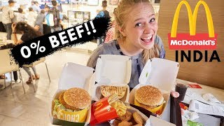 0% BEEF?! What McDonalds in India is Like
