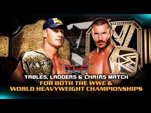 WWE TLC 2013 - Johncena Vs Randy Orton (Champion Vs Champion) Full Match HD