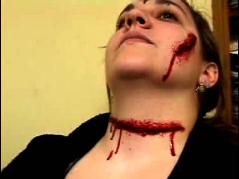 C mo darse maquillaje para simular un corte en el cuello - Como maquillarse de zombie ...