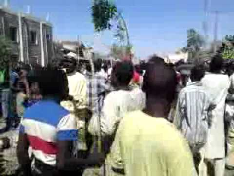 Katsina Youths Protesting Against Shema and PDP