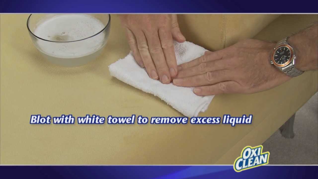 remove upholstery stains with oxiclean youtube. Black Bedroom Furniture Sets. Home Design Ideas