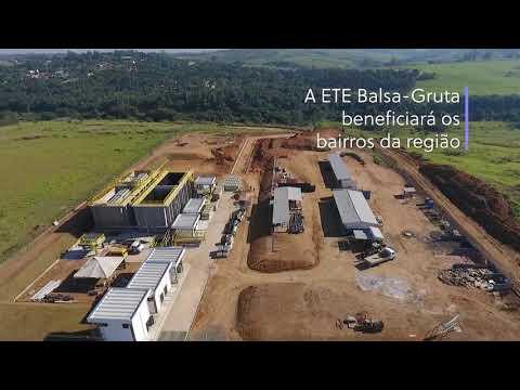 Video  - As obras de construção da ETE Balsa já atingiram 55% de execução.