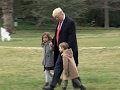 Raw: Trump Departs White House with Grandkids